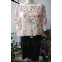 70fb212b57 Mya felül muszlinos virágmintás ruha
