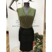 Envy zöld nyakán masnis ruha | Hajstílusok, Ruhák, Trendek