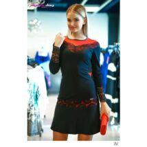 Mystic Day fekete - piros csipkével díszített alakformáló ruha 2744303567