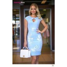 6b414dbe50 Mystic day kék alul csipkerátétes ruha