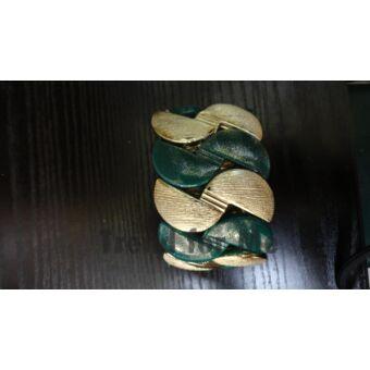 zöld -arany karkötő