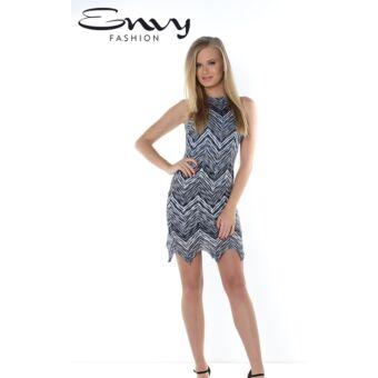Envy kék mintás horgolt ruha
