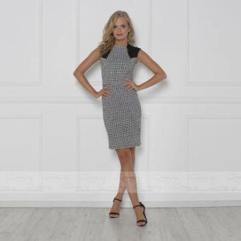Envy zippes, fekete - fehér négyzetrácsos ruha
