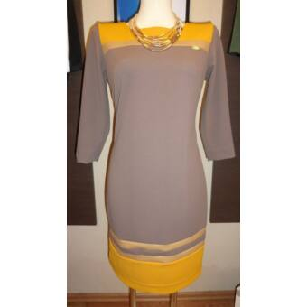 Mystic Day bézs - mustár alakformáló ruha
