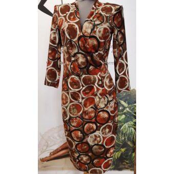 Mystic Day oldalt betétes barna mintás alakformáló ruha