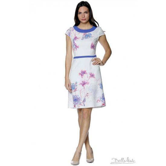 A-vonalú virágmintás ruha