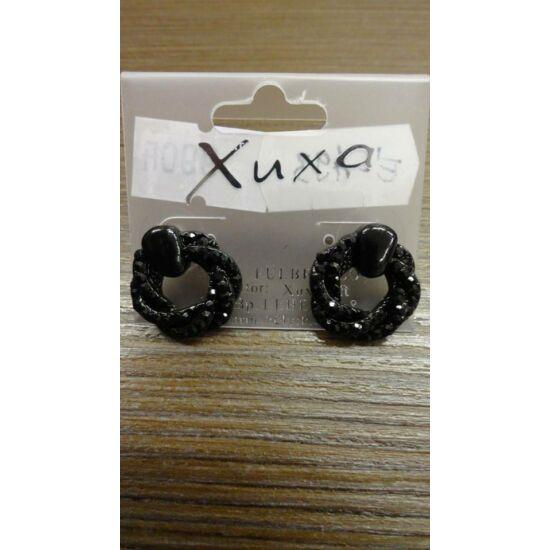 fekete kicsi kövekkel díszített bedugós fülbevaló