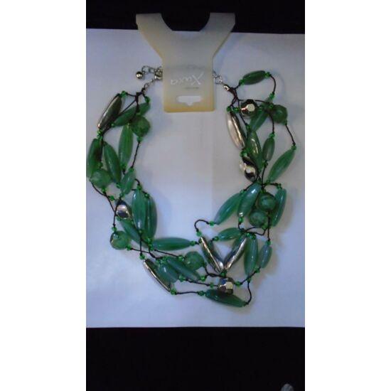 Zöld köves több soros nyaklánc