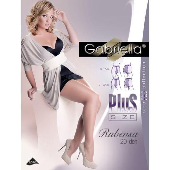 Gabriella Rubensa Plus Size harisnyanadrág fekete szín