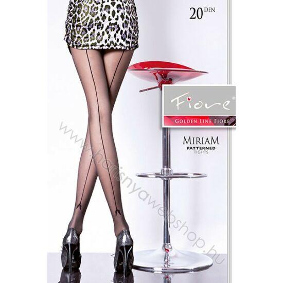 Fiore Miriam mintás fekete harisnyanadrág