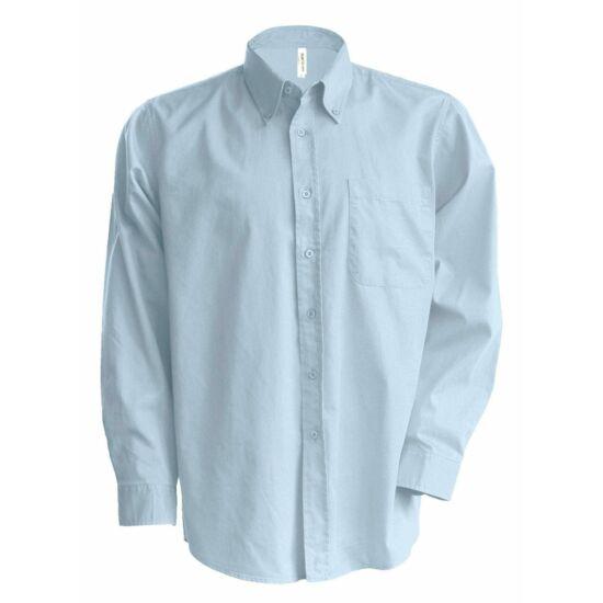 Kariban hosszú ujjú könnyen kezelhető férfi ing világoskék