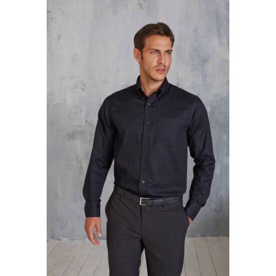 Kariban supreme vasalásmentes sötétszürke férfi ing