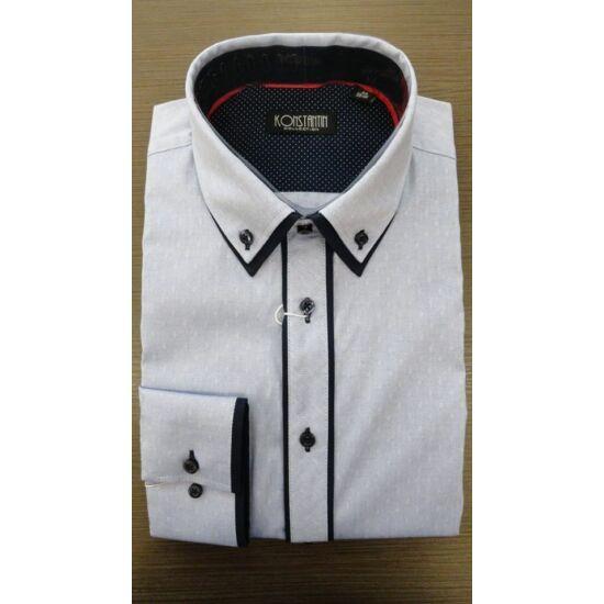 Konstantin magában mintás karcsúsított ing