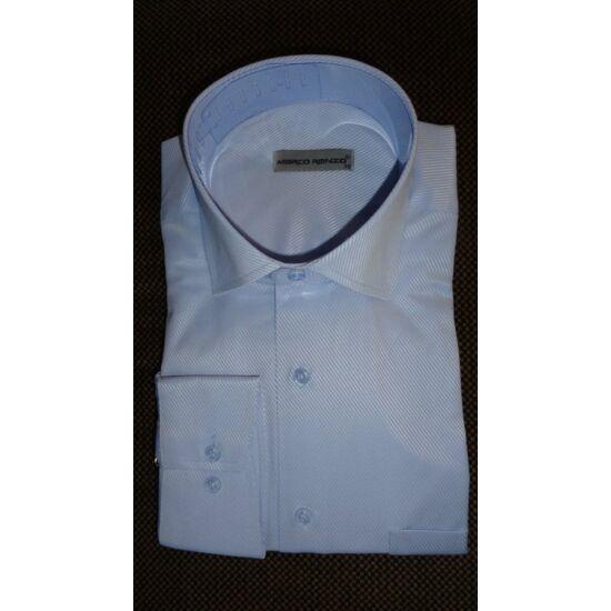 Marco Renzo világoskék - fehér csíkos normál férfi ing normál