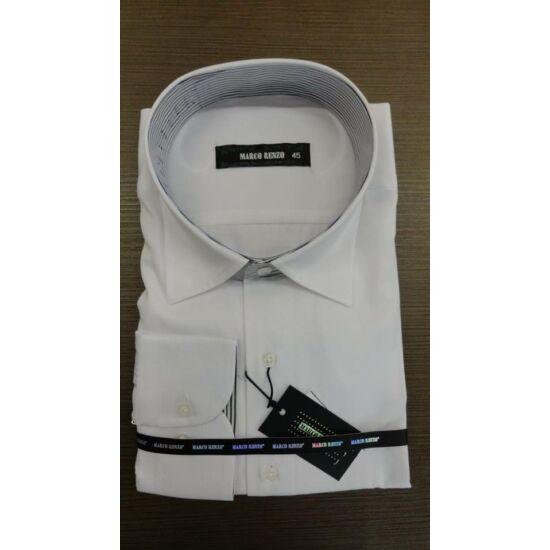 Marco Renzo fehér  férfi ing csíkos nyakrésszel normál