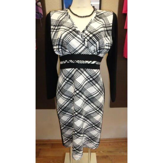 Mya fekete - fehér mintás alakformáló ruha