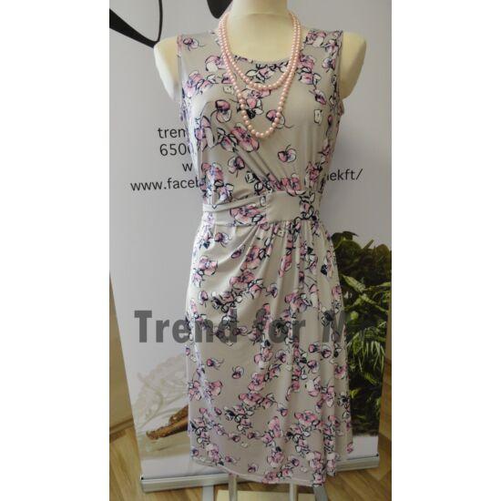 Mya szürke alapon virágmintás ruha