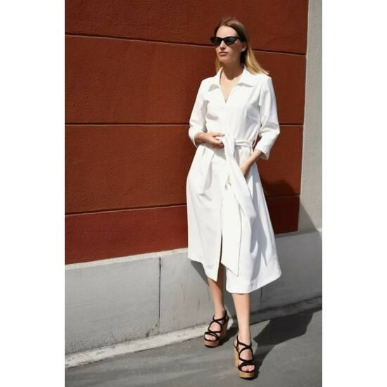 Mya ekrü kötős nyári ruha