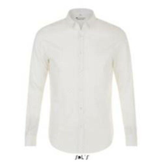 Sol's hosszú ujjú fehér alapon fekete pöttyös ing