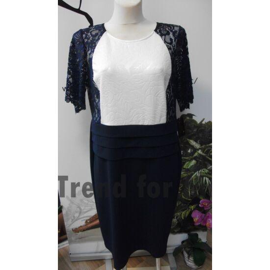 Szöszy sötétkék - fehér alakformáló ruha