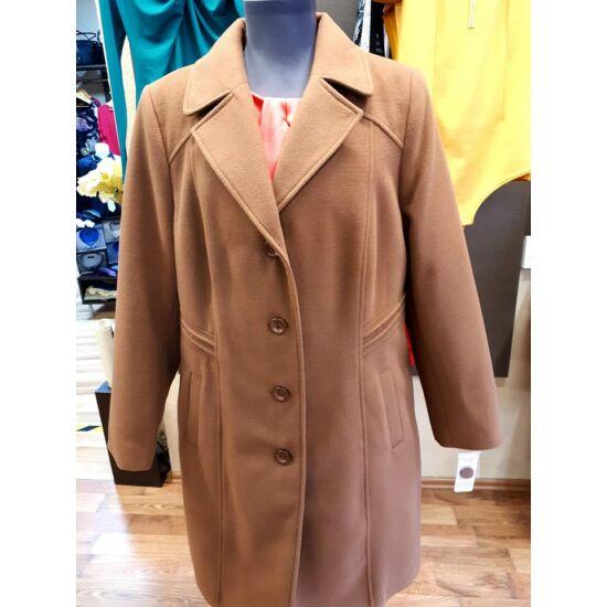 Szöszy karcsúsított csau barna kabát
