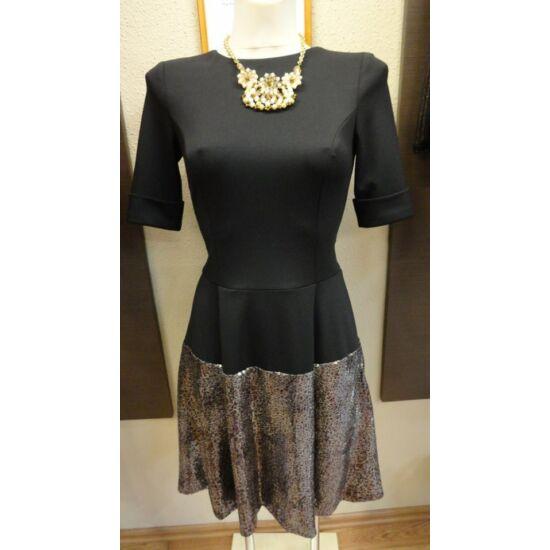 Envy fekete, alján flitteres szabott ruha