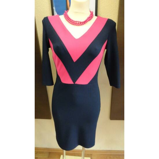 Envy sötétkék - pink ruha