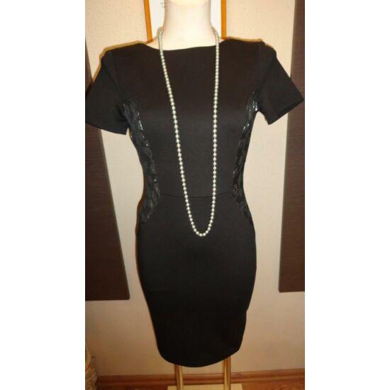 Envy fekete ruha ezüst mintás betéttel