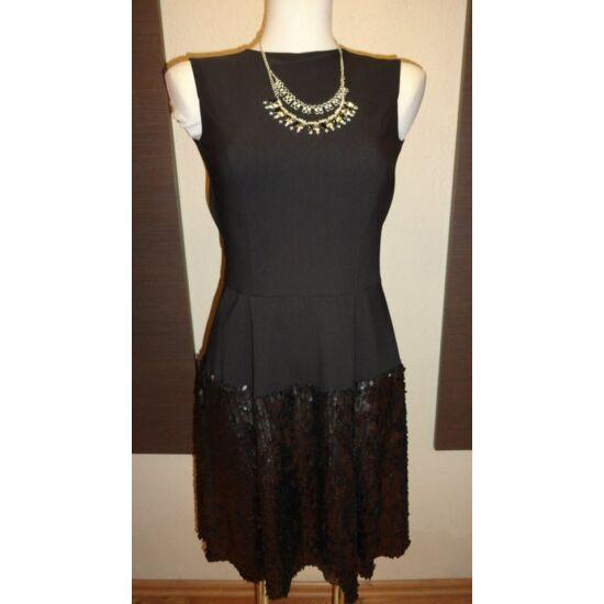 Envy fekete A-vonalú ruha alján flitterekkel