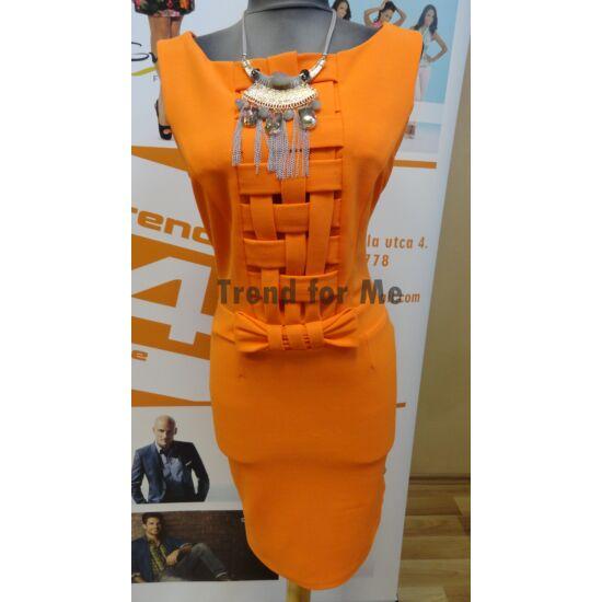 Envy narancssárga rácsos ruha