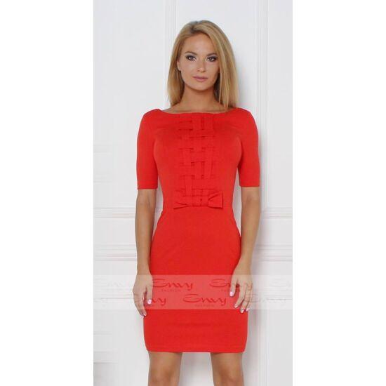 Envy elöl rácsos piros ruha