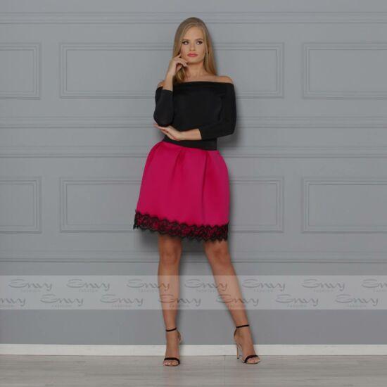 Envy T-vállú alján pink finom szivacsos anyagú A-vonalú ruha