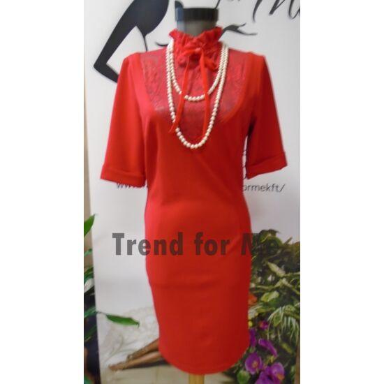 Envy piros csipkebetétes  ruha