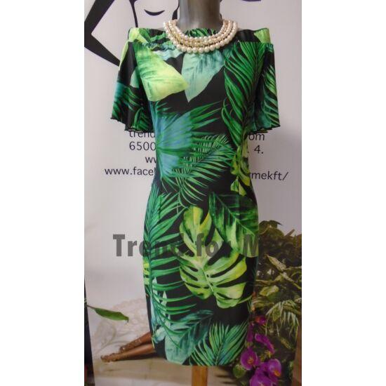 Envy zöld virágmintás ruha