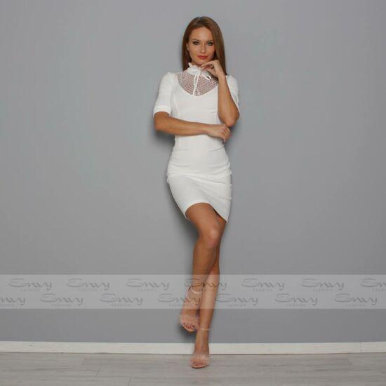 Envy fehér pöttyös necc betétes ruha