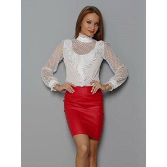 Envy piros bőrhatású szoknya