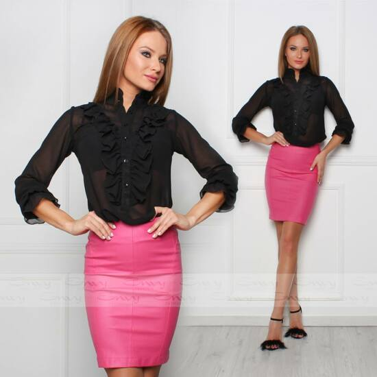 Envy rózsaszín bőrhatású szoknya