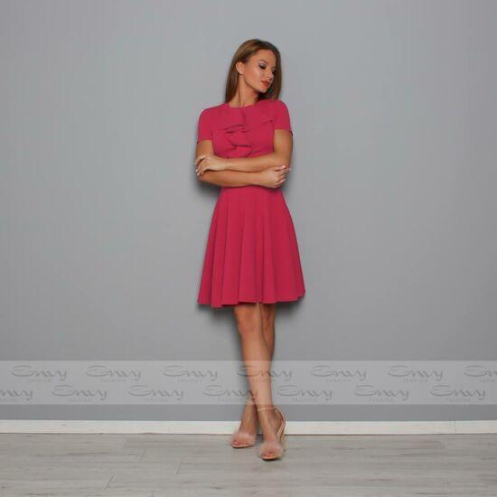 Envy rózsaszín A-vonalú mell részén fodor díszítésű ruha