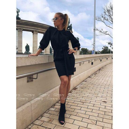 Envy fekete zsebes derekán köthető ruha