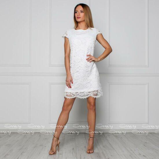 8fb3611215 Envy fehér csipkés ruha
