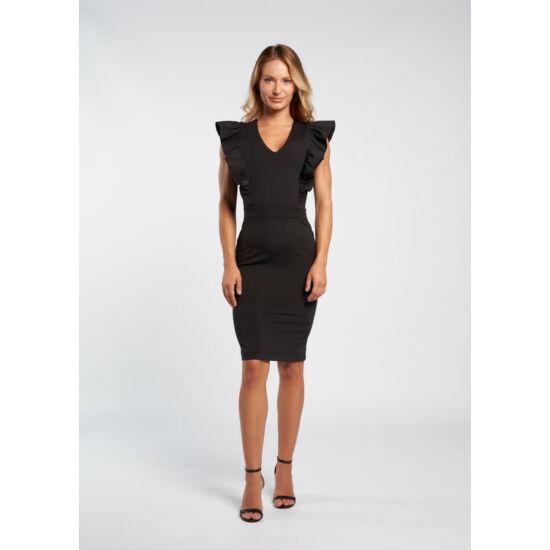 Envy fekete fodorral díszített ruha