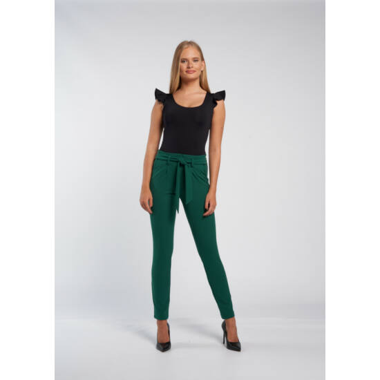 Envy sötétzöld színű kötős nadrág