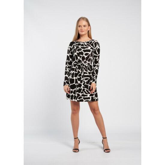 Envy fekete fehér mintás kötős pamut ruha