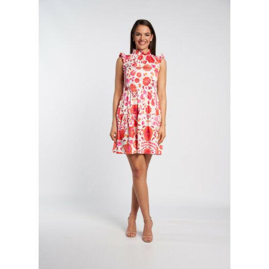 Envy virágmintás fodros szatén ruha
