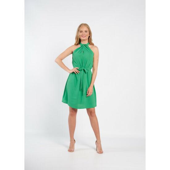 Envy zöld csavart halter nyakú A-vonalú ruha