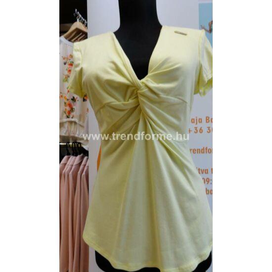 Mystic Day sárga csavart elejű póló