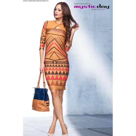 Mystic Day őszi mintás alakformáló ruha