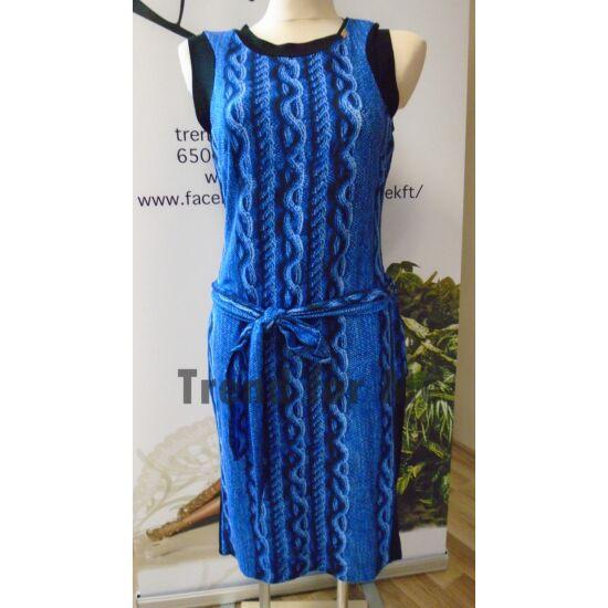 Mystic Day kék kötött mintás alakformáló ruha