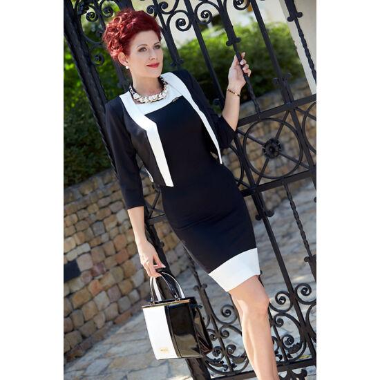 Mystic Day fekete - fehér alakformáló ruha boleroval