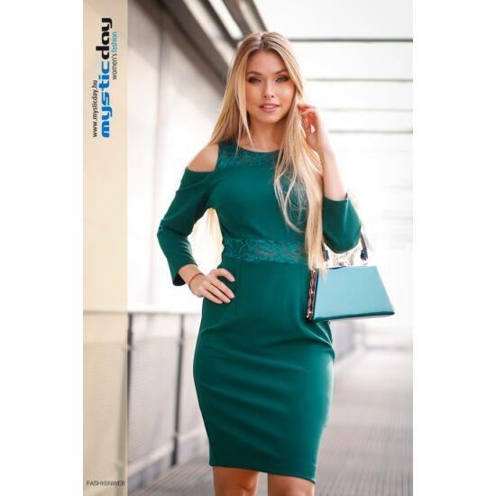 Mystic Day zöld csipkével díszített alakformáló ruha